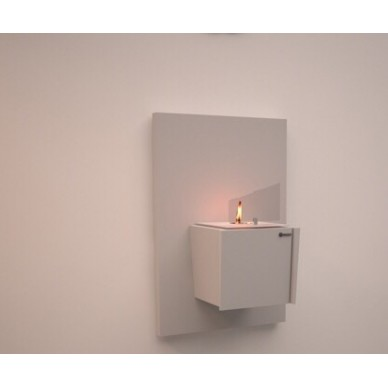 Биокамин Kvadro mini wall white