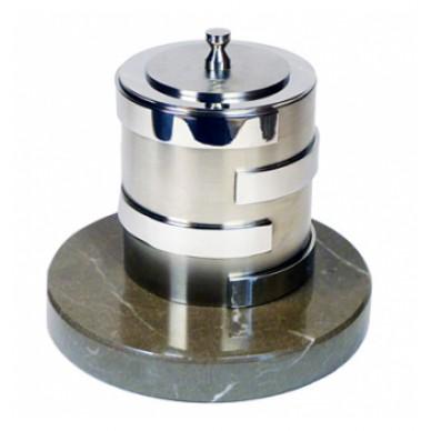 Биосвеча «Серебро» на мраморном основании 2