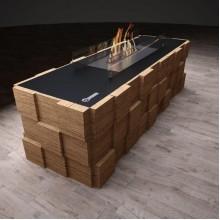 Биокамин Tetris floor vinil